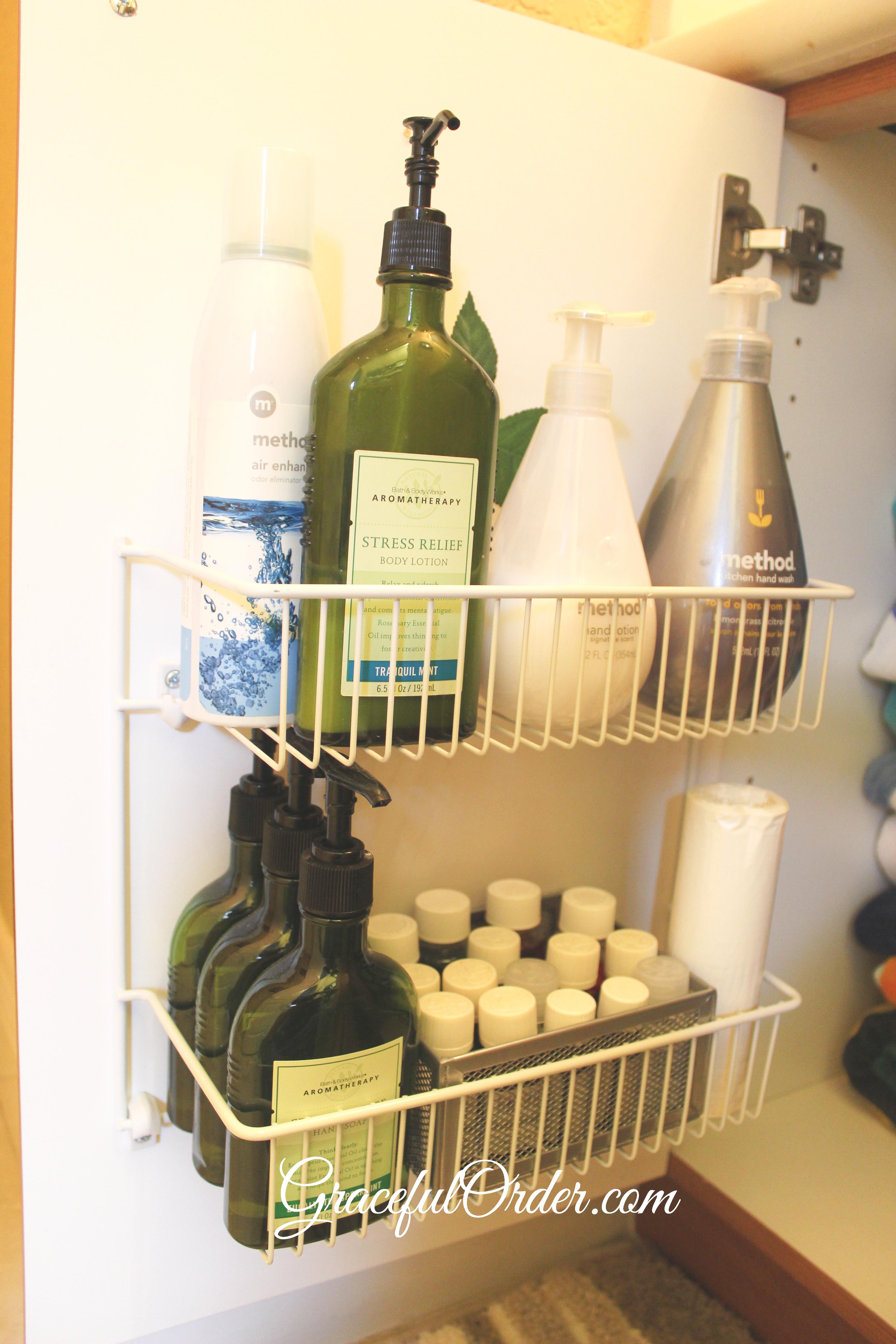 Guest Bathroom Organization | Graceful Order