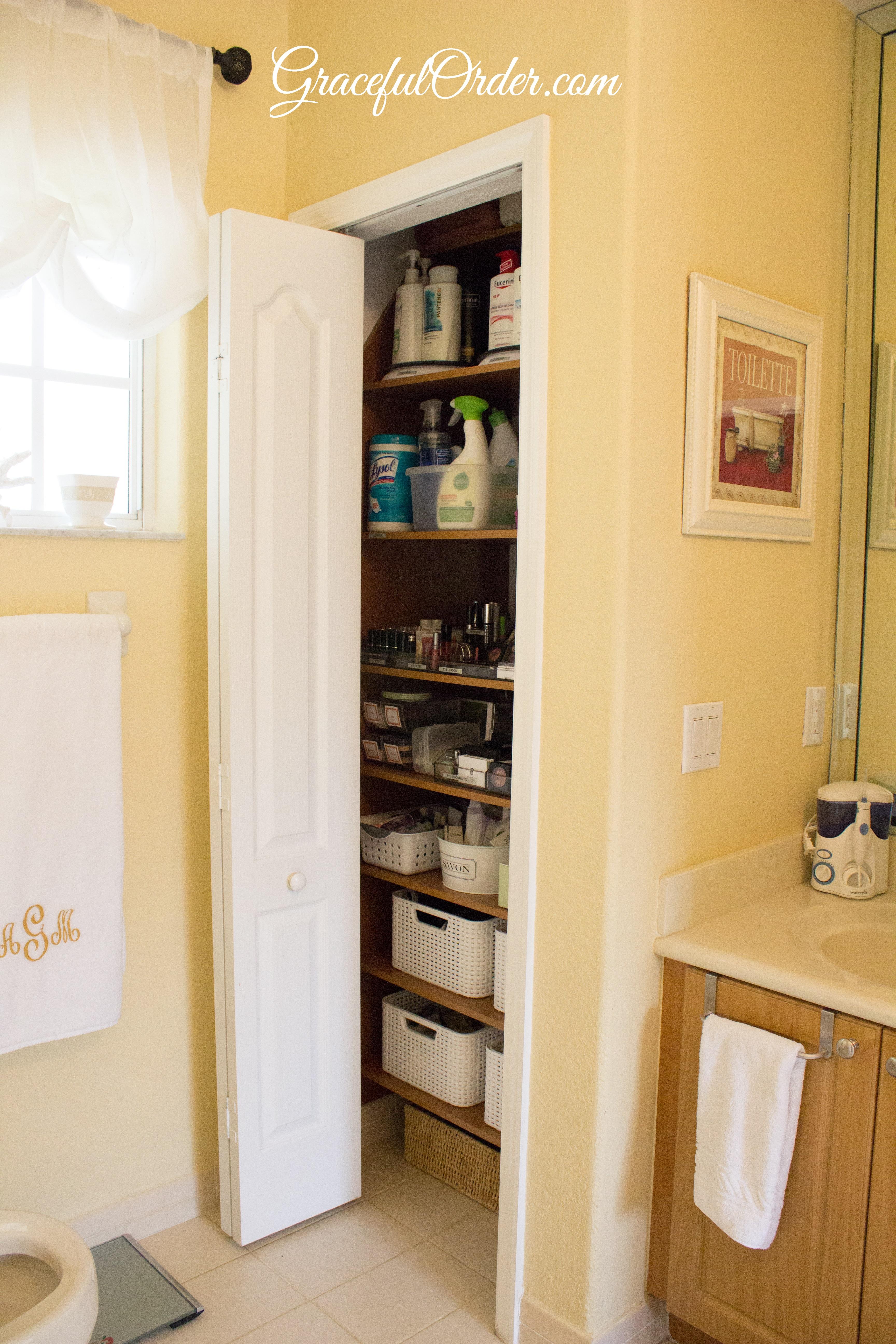 Bathroom Linen Closet Organization Graceful Order