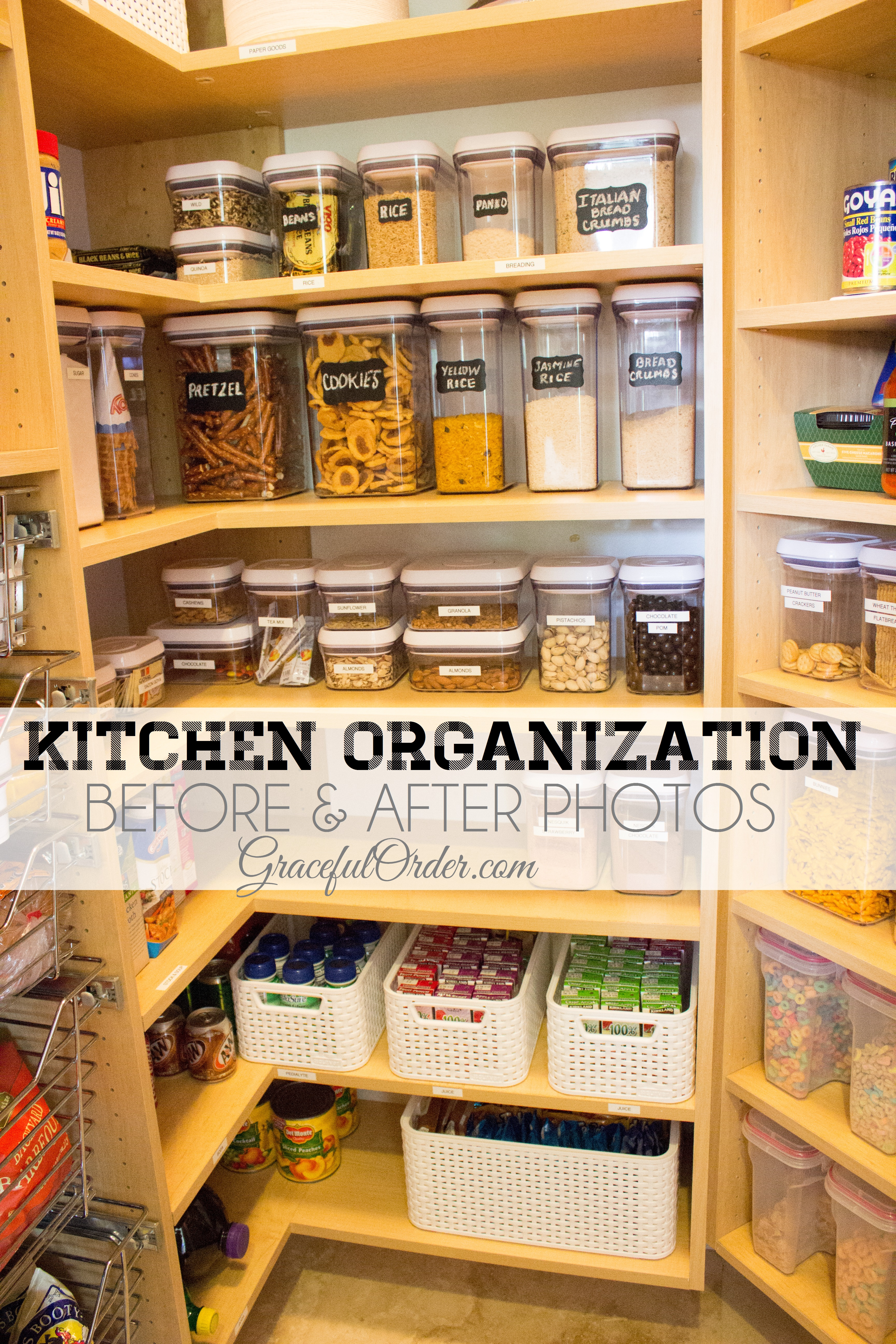 Kitchen Organizing Before And After Photos Graceful Order