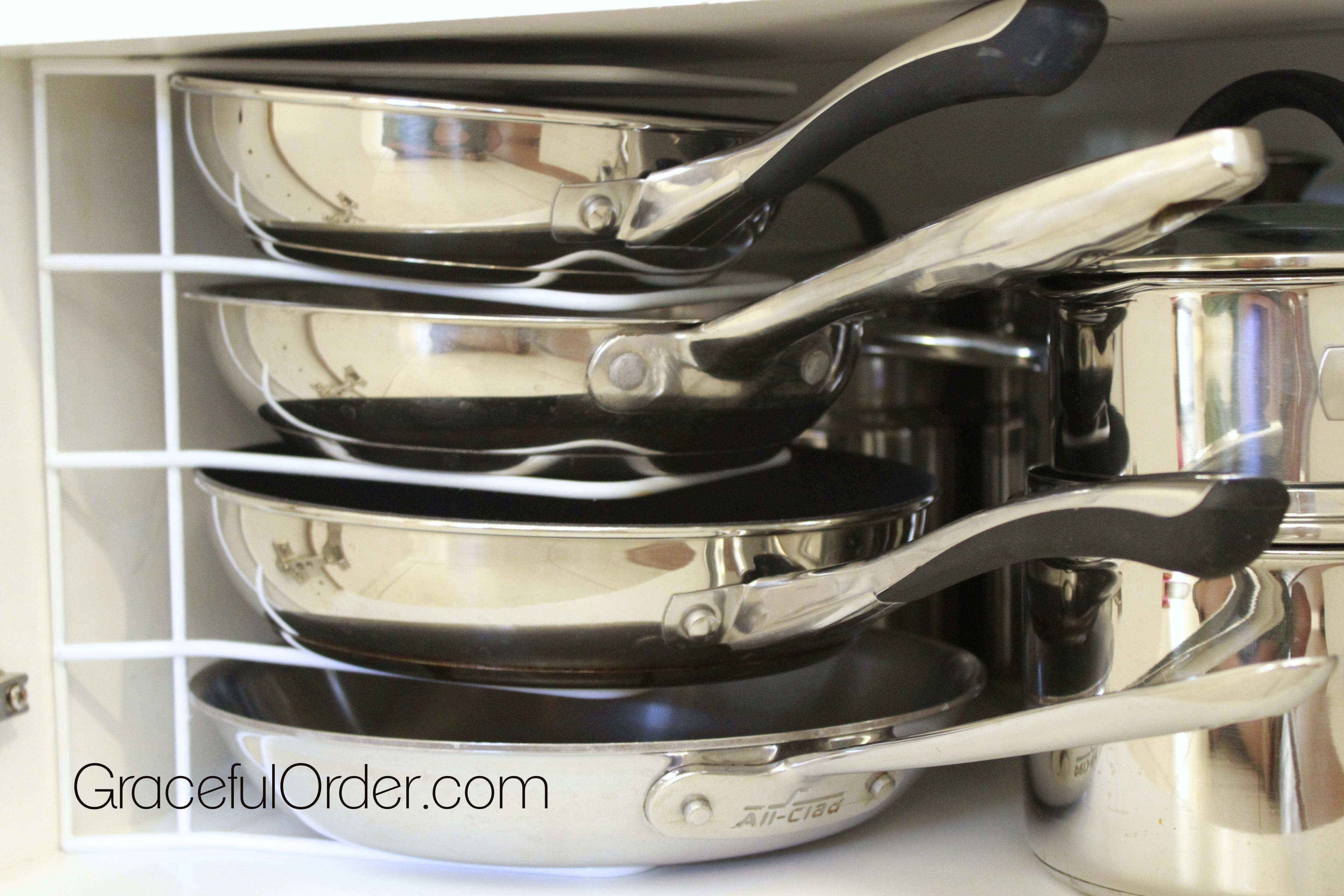 organizing pots and pans graceful order